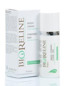 "<FONT color=""mediumseagreen""><B>Masque Vitaminé (acide hyaluronique) 77% BIO*-Airless 50ml</FONT>"